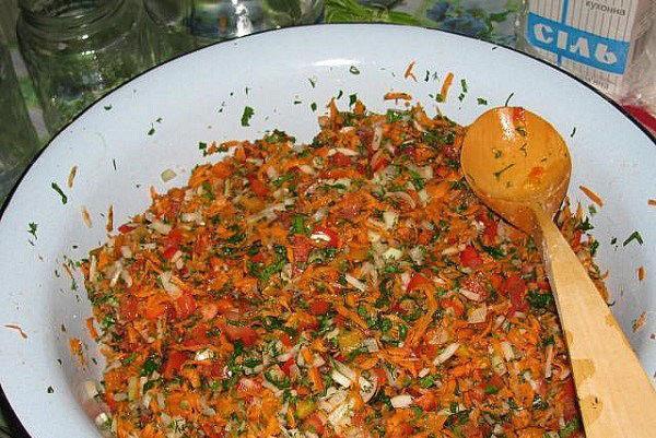 ингредиенты смешать с солью