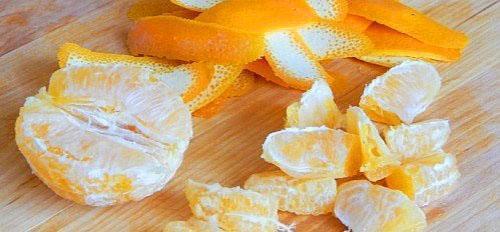почистить апельсин