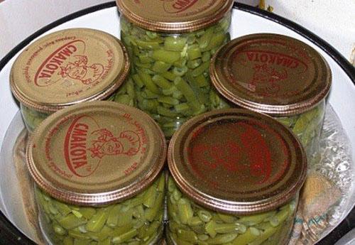 стерилизовать баночки с фасолью зеленой