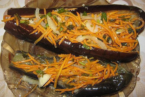 Заквасить баклажаны с морковкой на зиму