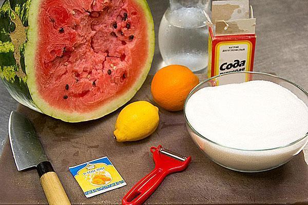 ингредиенты для приготовления мармелада