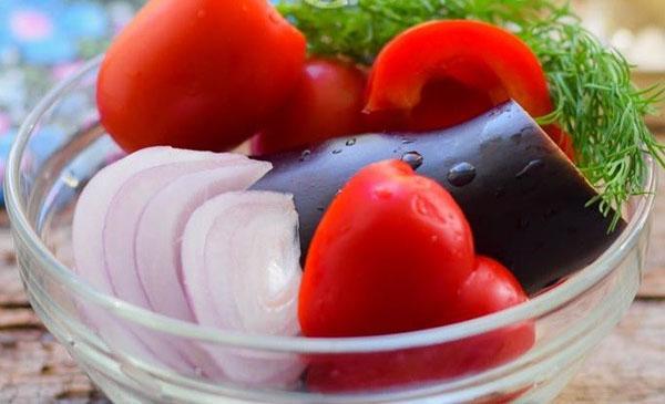 подготовить овощи для салата