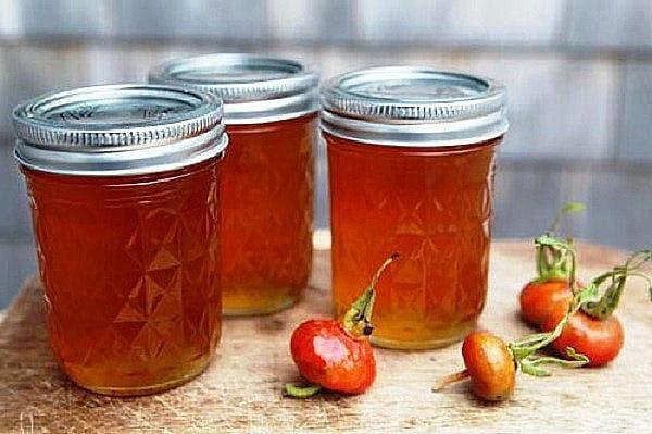 компот из перетертого шиповника с медом