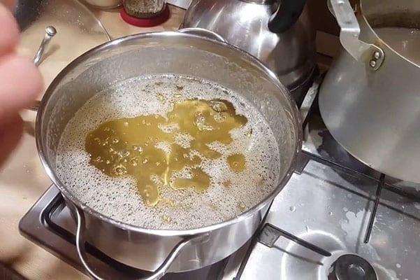 процесс приготовления сиропа сахарного