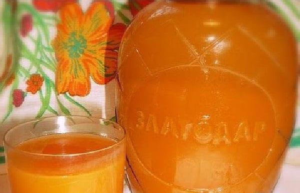 абрикосово-апельсиновый компот с мякотью
