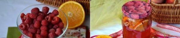 компот из малины и апельсина