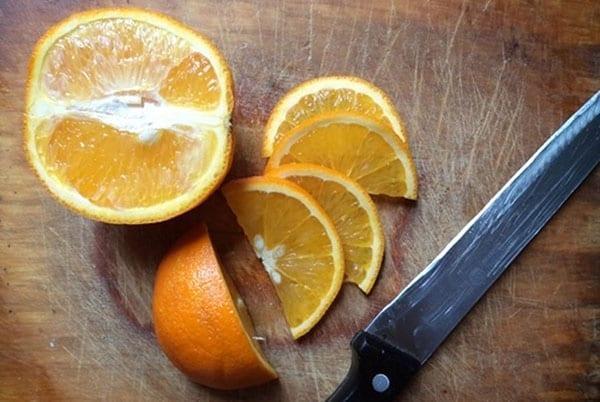 нарезать апельсин с кожурой