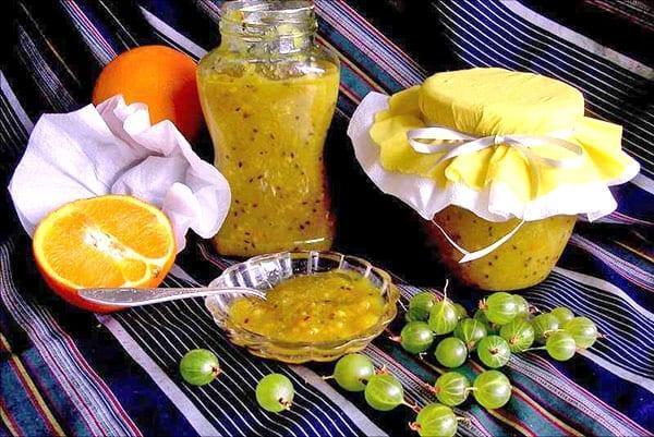 вкусный десерт из крыжовника с цитрусовыми