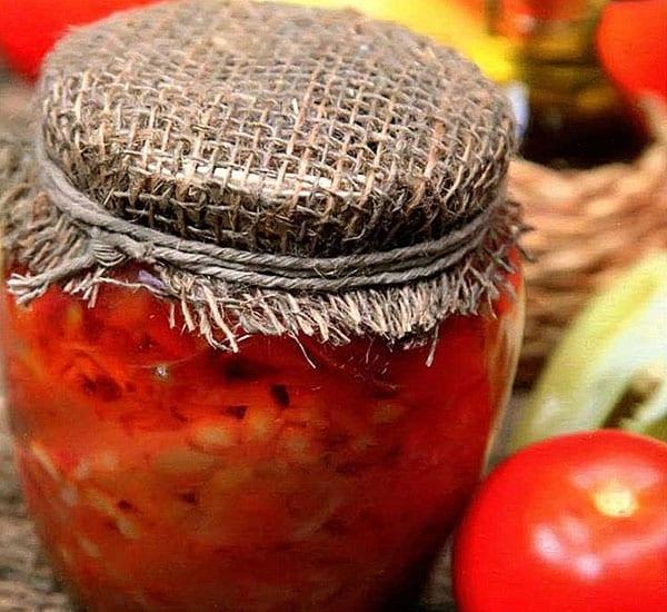 лечо с фасолью и томатной пастой