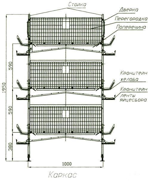 размеры и детали клетки
