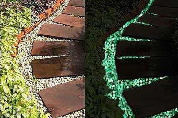 украшение садовых дорожек