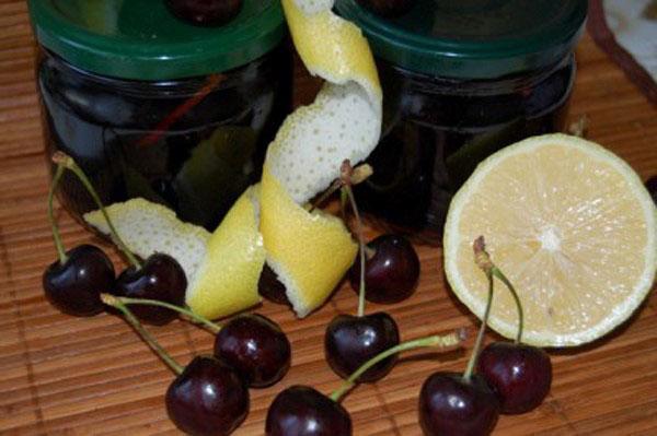 варенье из черешни с косточкой и лимоном