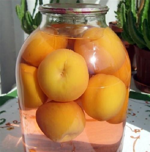 ароматный компот из персиков
