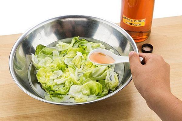 добавление яблочного уксуса в салат