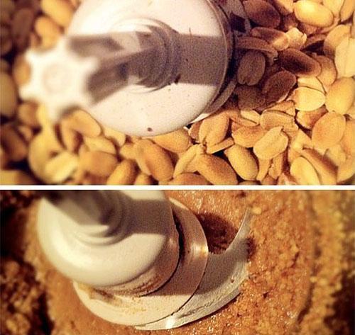 измельчение арахиса