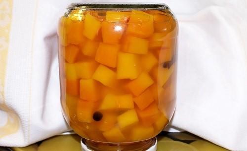 оригинальный компот из тыквы