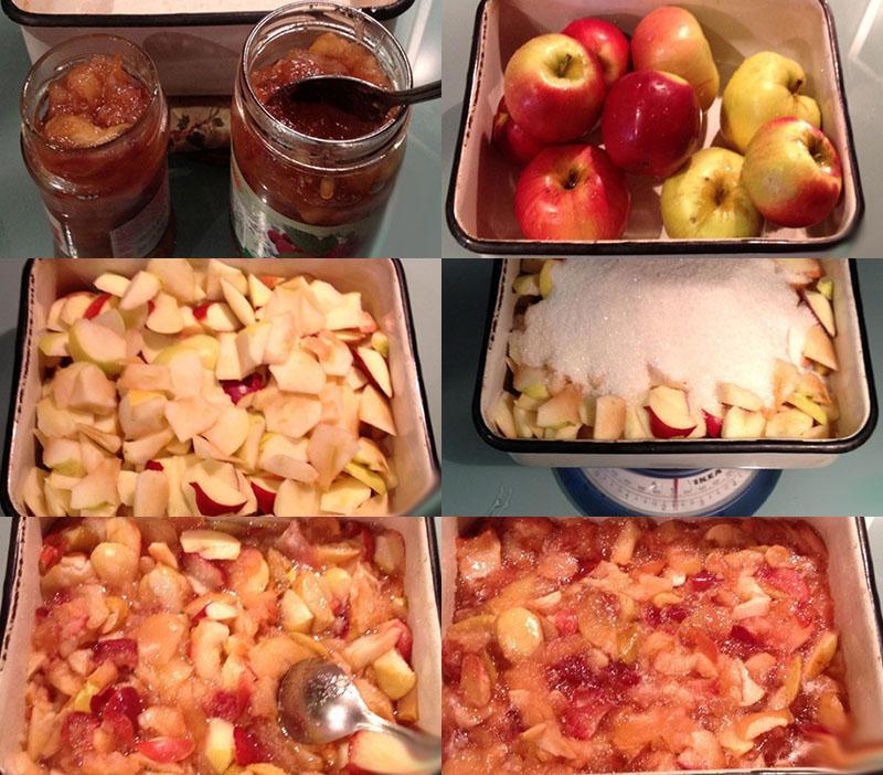 этапы приготовления повидла из яблок