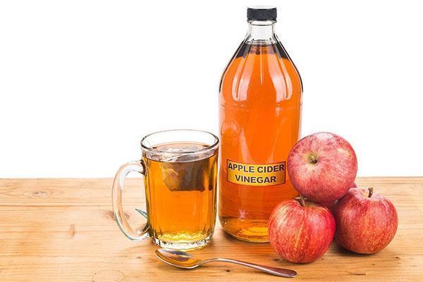 снижаем температуру яблочным уксусом