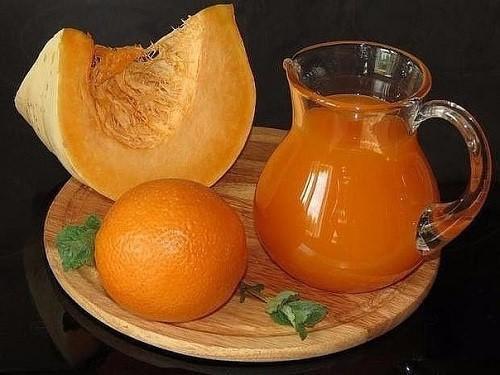 сок из тыквы и апельсин