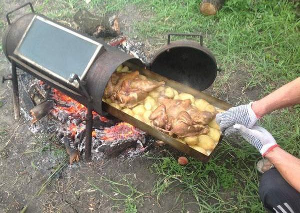 мангал печь