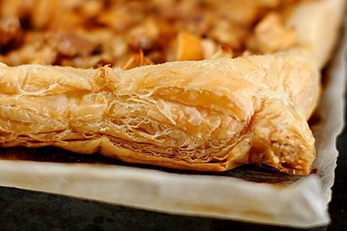 слоеный пирог из ревеня
