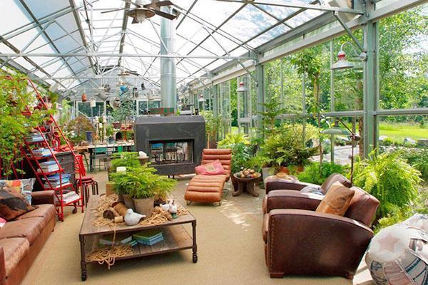 зимний сад в оранжерее