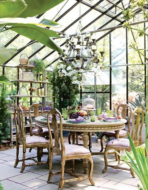 зимний сад в столовой