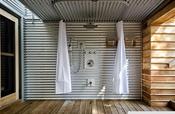 душ в стиле хай-тек