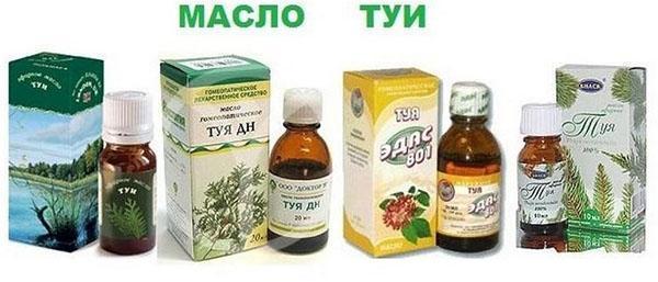 масло туи от разных производителей