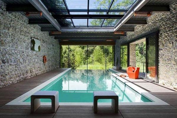 плоская крыша из стекла