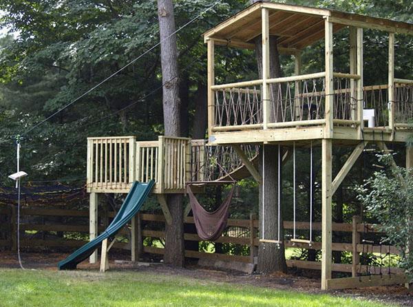 детские площадки на высоте