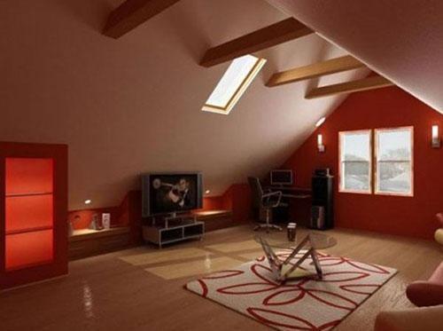 дизайн зоны отдыха на чердаке
