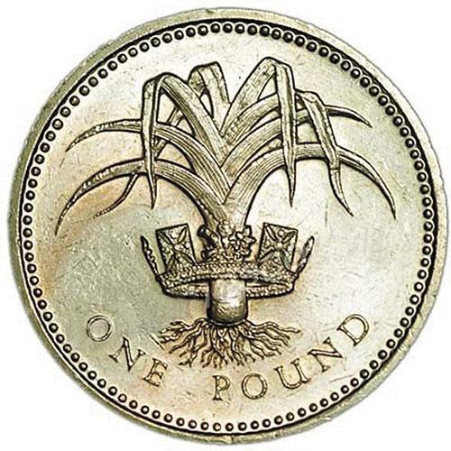 монета с изображением лука-порея