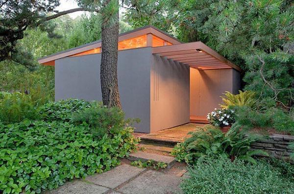 простой панельный домик
