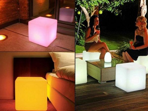 светящиеся кубы в интерьере