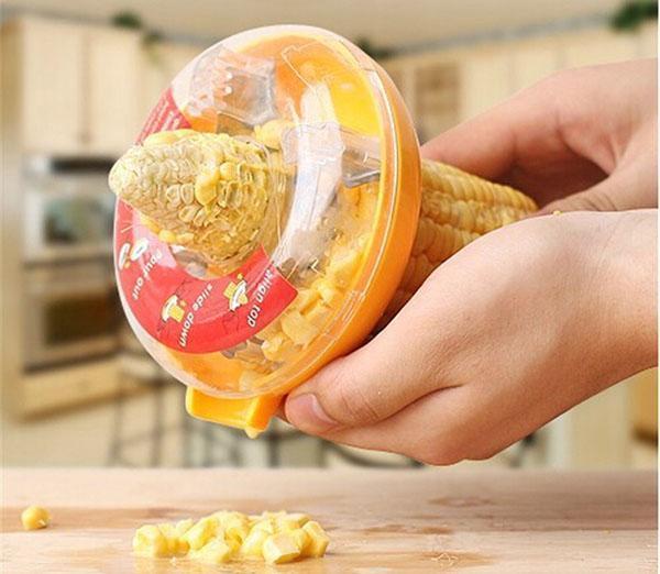 чистим зерна кукурузы