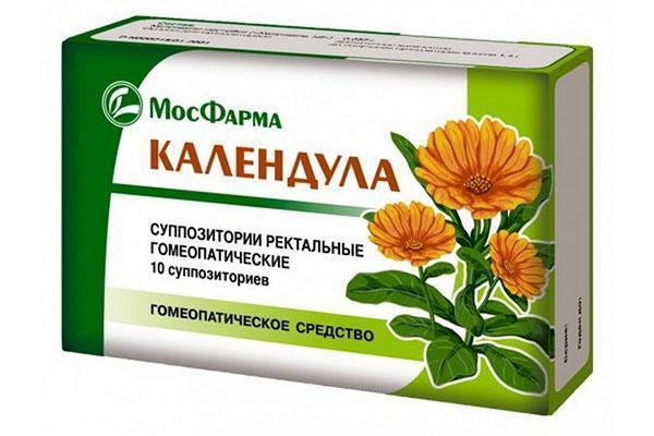 гомеопатическое средство - свечи с календулой