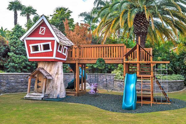 комбинированная детская площадка для игр
