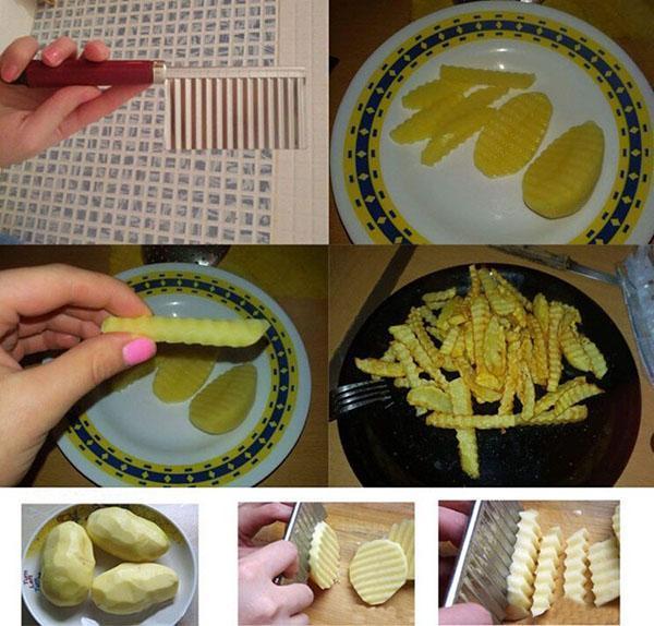 нарезаем картофель красиво