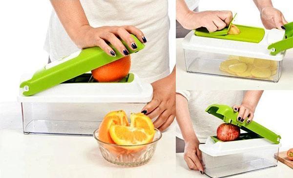 нарезаем овощи и фрукты быстро