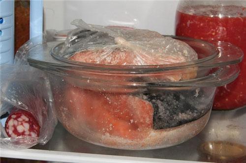 для засолки используем стеклянную посуду