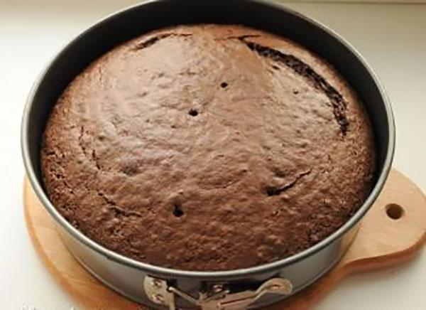 выпекаем шоколадный бисквит