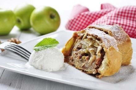 пирог штрудель с яблоками