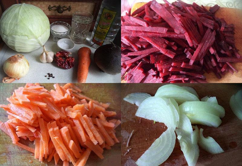 нарезать ингредиенты