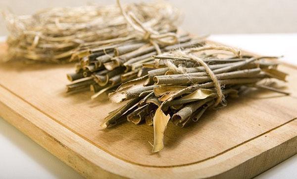 заготовка коры ивы