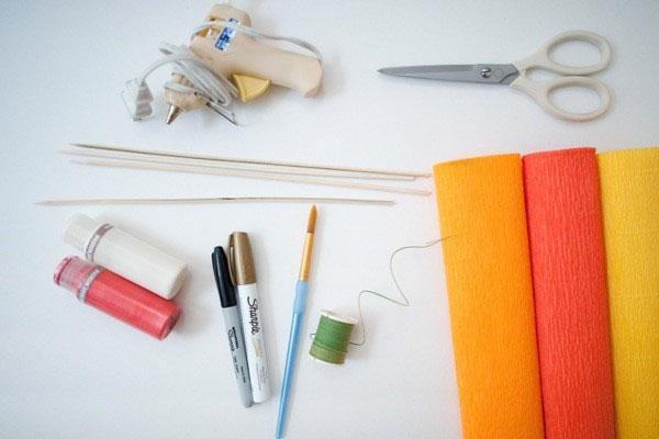 материал и инструмент для изготовления бабочек