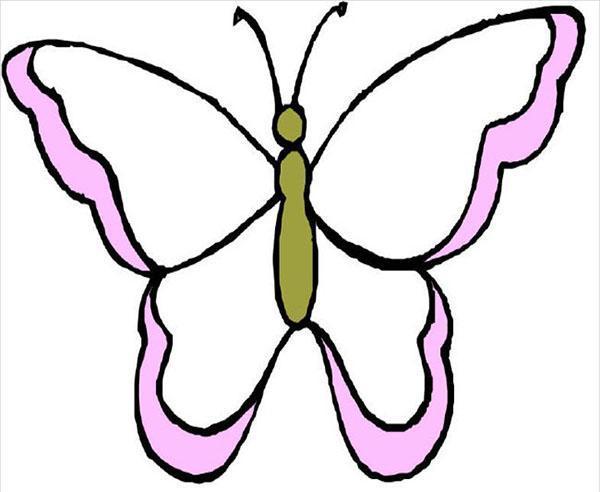 красивая бабочка для вырезания