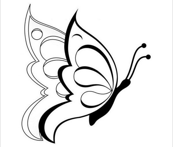 симпатичный шаблон бабочки