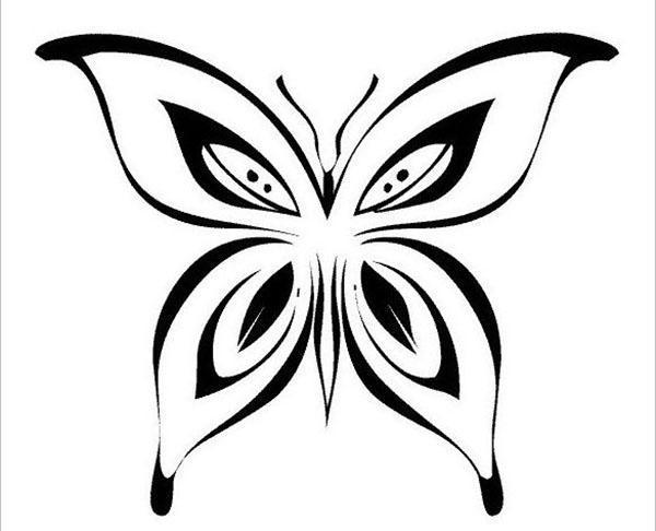 шаблон темной бабочки