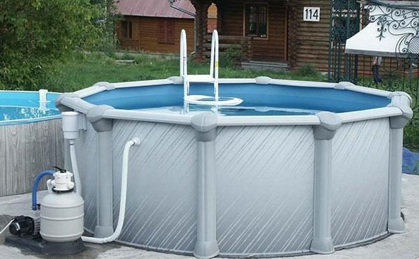каркасный бассейн в эксплуатации